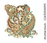 isolated indian pattern with... | Shutterstock . vector #1265054095