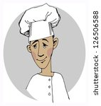 chef cook cartoon face | Shutterstock .eps vector #126506588