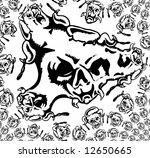 abstract bw background tattoo | Shutterstock . vector #12650665