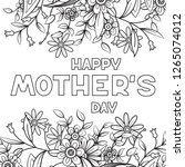 happy mother's day coloring... | Shutterstock .eps vector #1265074012
