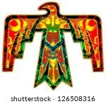 thunderbird   native american...   Shutterstock . vector #126508316