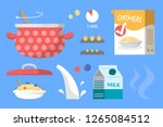 porridge for breakfast recipe... | Shutterstock .eps vector #1265084512