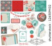 scrapbook design elements  ... | Shutterstock .eps vector #126509432