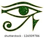 sun eye of horus   reverse moon ...   Shutterstock . vector #126509786