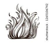 print on a t shirt or logo... | Shutterstock .eps vector #1265106742