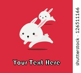 vector of bunny rabbit running... | Shutterstock .eps vector #126511166