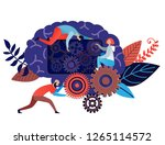 brain storm business concept of ... | Shutterstock .eps vector #1265114572