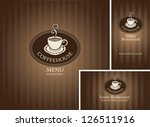 banner and business cards with... | Shutterstock .eps vector #126511916