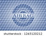 airbag blue emblem or badge... | Shutterstock .eps vector #1265120212