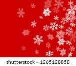 winter snowflakes border simple ... | Shutterstock .eps vector #1265128858