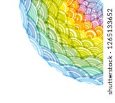 abstract round wreath... | Shutterstock . vector #1265133652