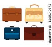 set of four bags on white... | Shutterstock . vector #1265140972