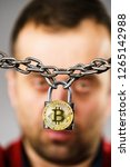 man having problems with crypto ... | Shutterstock . vector #1265142988