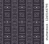 black and white tribal pattern. ... | Shutterstock .eps vector #1265143795