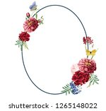 floral frame illustrations | Shutterstock .eps vector #1265148022