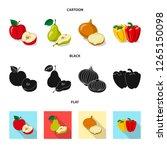 isolated object of vegetable...   Shutterstock .eps vector #1265150098
