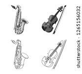 vector illustration of music... | Shutterstock .eps vector #1265156032