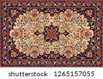 persian carpet  tribal vector... | Shutterstock .eps vector #1265157055