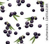 seamless pattern with acai... | Shutterstock .eps vector #1265162185