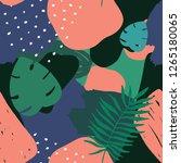 vector abstract tropical... | Shutterstock .eps vector #1265180065