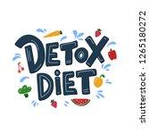 detox diet vector lettering... | Shutterstock .eps vector #1265180272