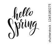 hello spring vector lettering... | Shutterstock .eps vector #1265180275