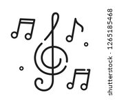 vector music icon notes and... | Shutterstock .eps vector #1265185468