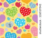 seamless background with hearts ... | Shutterstock .eps vector #126519542