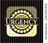 urgency shiny badge   Shutterstock .eps vector #1265201332