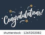 congratulations lettering card  ... | Shutterstock .eps vector #1265202082