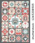 concept of original christmas...   Shutterstock .eps vector #1265208505