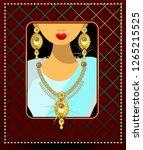 dubai bride jewelry sets for... | Shutterstock .eps vector #1265215525