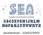 vector uppercase alphabet... | Shutterstock .eps vector #1265215942