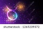 taurus zodiac sign on dark sky...   Shutterstock .eps vector #1265239372