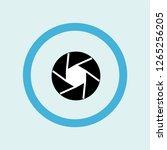 shutter icon symbol. premium... | Shutterstock .eps vector #1265256205