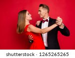 portrait of his he her she two... | Shutterstock . vector #1265265265