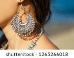 Female Model Earrings And...
