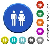 male and female sign round... | Shutterstock .eps vector #1265271745