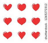 heart love symbol collection | Shutterstock .eps vector #1265272312