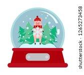christmas snowball with cartoon ...   Shutterstock .eps vector #1265273458