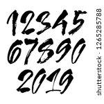 vector set of calligraphic...   Shutterstock .eps vector #1265285788