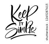 keep it simple lettering.... | Shutterstock .eps vector #1265287615