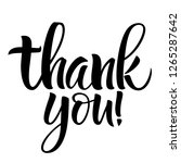 thank you lettering.... | Shutterstock .eps vector #1265287642
