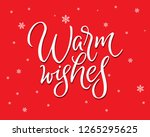 warm wishes red vector poster.... | Shutterstock .eps vector #1265295625
