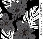 beautiful seamless floral... | Shutterstock .eps vector #1265304265