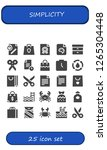 simplicity icon set. 25 filled ... | Shutterstock .eps vector #1265304448