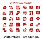 chatting icon set. 30 filled...