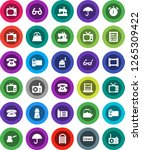 white solid icon set  washboard ... | Shutterstock .eps vector #1265309422