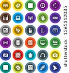 white solid icon set  notebook... | Shutterstock .eps vector #1265312035