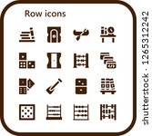 row icon set. 16 filled row... | Shutterstock .eps vector #1265312242